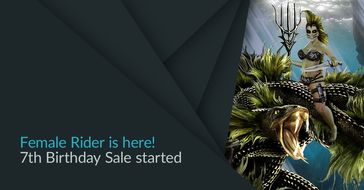 ePic Character Generator Female Rider Release 7th Birthday Sale News Header