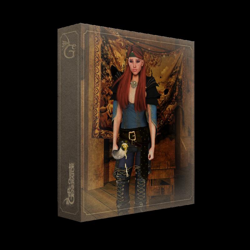 ePic Character Generator Season 2 Female Adventurer 2 Box