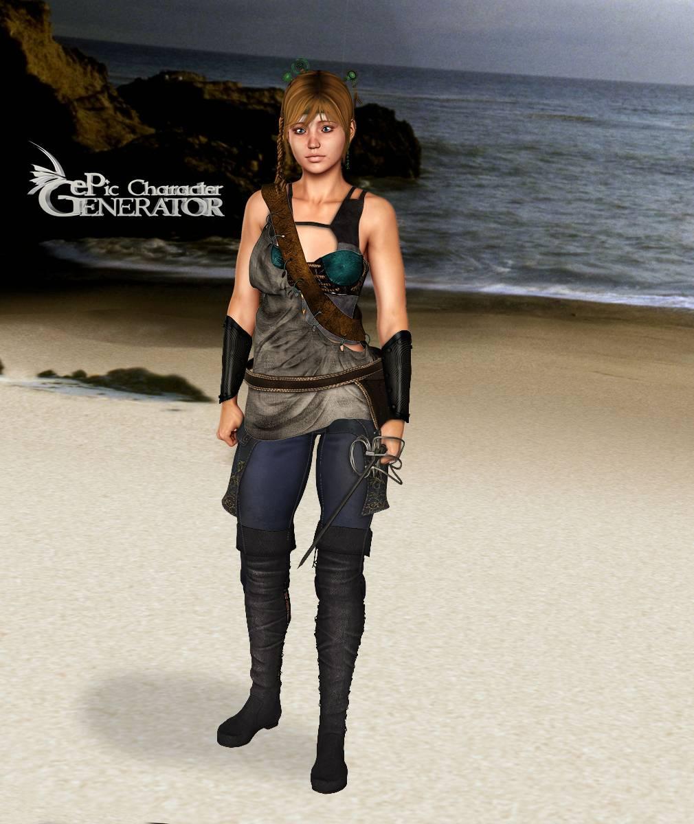 ePic Character Generator Season 2 Female Adventurer 2 Screenshot 03