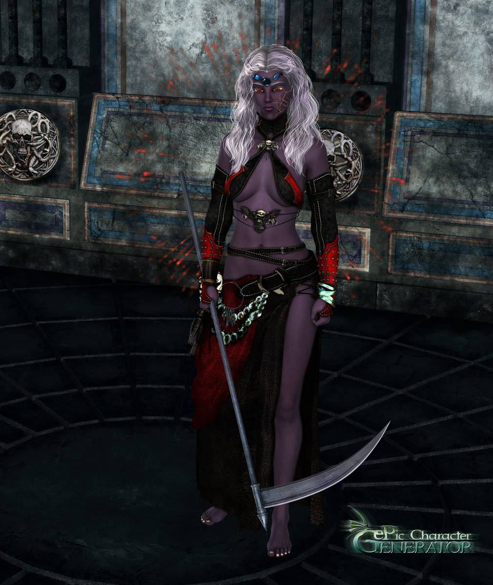 ePic Character Generator Season 2 Female Drow Spellcaster Screenshot 01