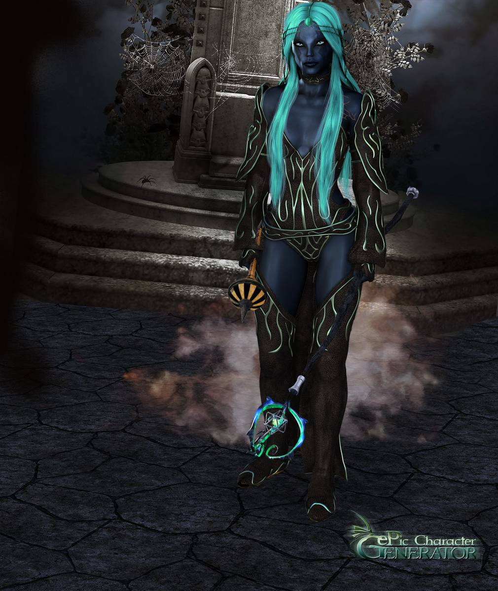 ePic Character Generator Season 2 Female Drow Spellcaster Screenshot 04