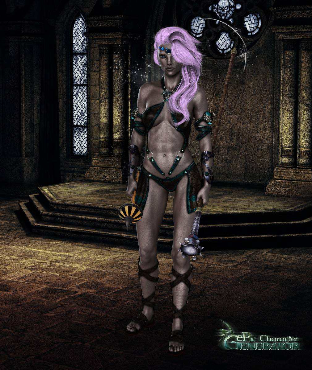 ePic Character Generator Season 2 Female Drow Spellcaster Screenshot 06
