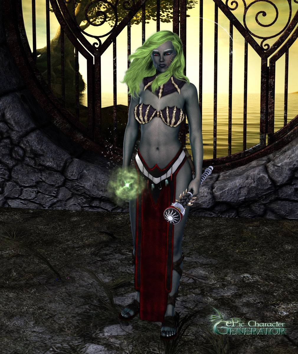 ePic Character Generator Season 2 Female Drow Spellcaster Screenshot 11