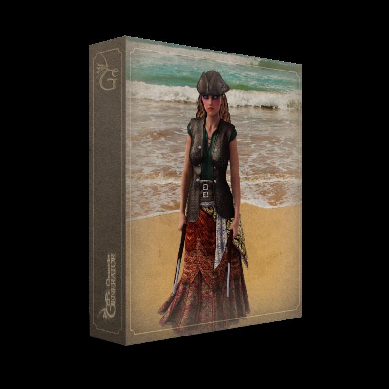 ePic Character Generator Season 2 Female Pirate Box